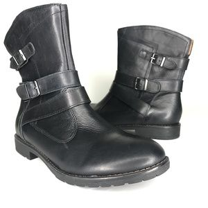 Montana Shoes - Montana Rylan Black Leather Ankle Booties SH0900